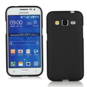 Black Frosted Samsung Core Prime Silicone Gel Skin Cover Case