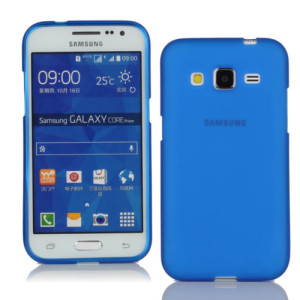 Blue Frosted Samsung Core Prime Silicone Gel Skin Cover Case