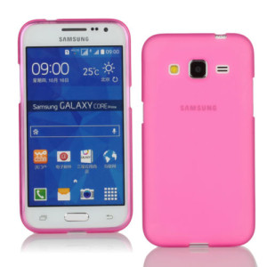 Pink Frosted Samsung Galaxy Core Prime Silicone Gel Skin Cover Case