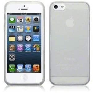 White Frost TPU Gel Cover Case for iPhone 5 : 5s