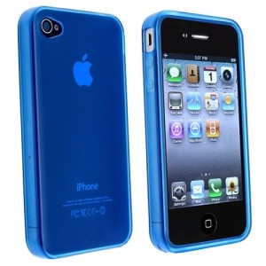 Blue Frost TPU Cover Case for iPhone 4 : 4s