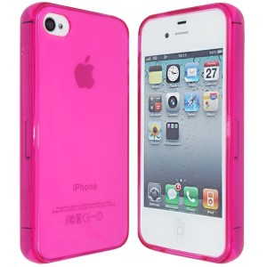 Pink Frost TPU Case for iPhone 4 : 4s