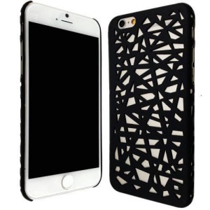 Black Hollow Bird Nest Snap on Cover Case for iPhone 6 and 6s (4.7inch)