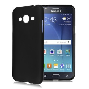 Black Frosted Samsung J1 Ace TPU Silicone Gel Skin Cover Case
