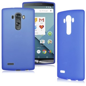 Blue Frost TPU Gel Cover Case for the LG G4 Stylus