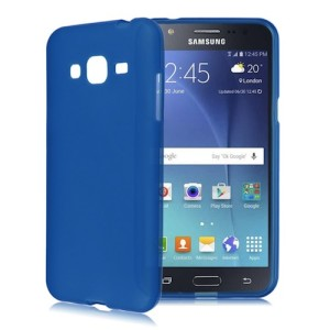 Blue Frosted Samsung J1 Ace TPU Silicone Gel Skin Cover Case