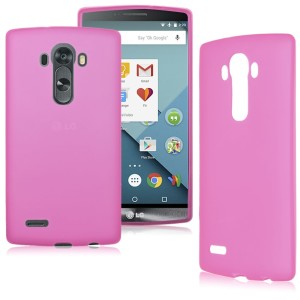 Pink Frost TPU Gel Cover Case for the LG G4 Stylus