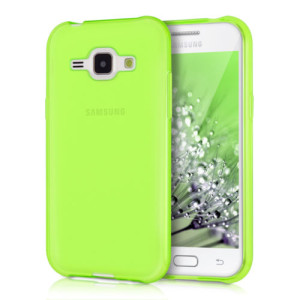 Protective Matte Gel Skin Cover Case for the Samsung Galaxy J3 - Lumo Green