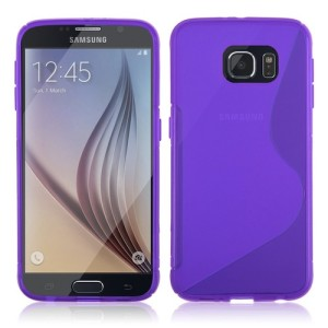 Purple S Line TPU Cover Case for Samsung Galaxy S6 G920