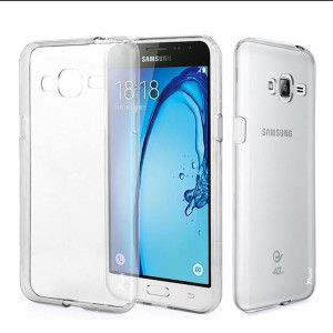 Ultra Thin TPU Shockproof Case for Samsung J1 Ace - Transparent Clear