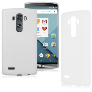 White Frost TPU Gel Cover Case for the LG G4 Stylus