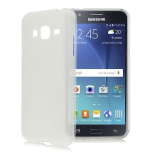 White Frosted Samsung J1 Ace TPU Silicone Gel Skin Cover Case