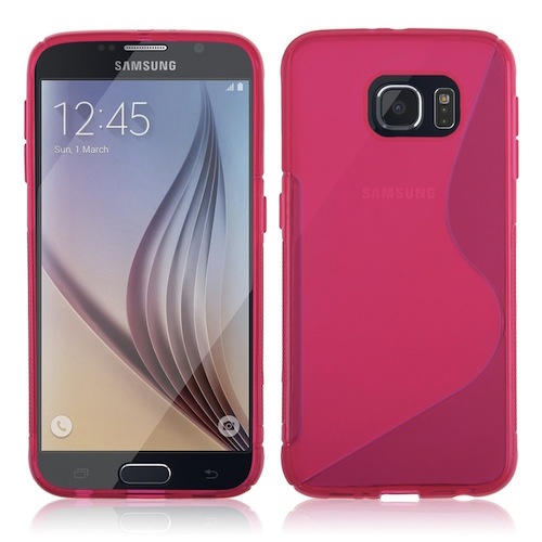 Pink Streamline Silicone Gel TPU Skin Cover Case for Samsung Galaxy S7