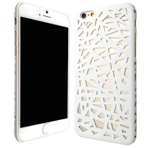 White Hollow Bird Nest Snap on Cover Case for iPhone 6 and 6s (4.7inch)