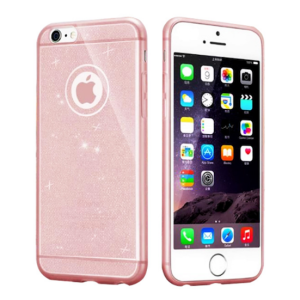 Rose Gold Glitter Luxury Bling Silcone TPU Phone Cover Case for iPhone 6 and 6s