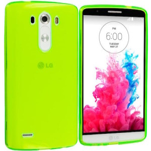 Lumo Green Protective  Matte Gel Skin Cover Case for the  LG G4 Beat