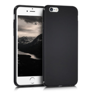 Black Matte Protective Gel Skin Cover Case for Apple  iPhone 6 and 6s (4.7 inch)