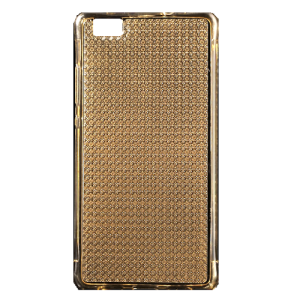 Gold Glitter Gel TPU Air Cushion  Protective Cover for Huawei  P8 Lite