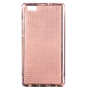 Rose Gold Glitter Gel TPU Air Cushion  Protective Cover for Huawei  P8