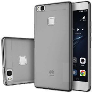 Huawei P9 Transparent Frost TPU Anti Slip Protective Cover Case - Grey