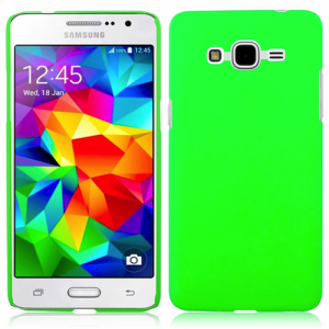 Lumo Green Protective  Matte Gel Skin Cover Case for the Samsung Galaxy J7