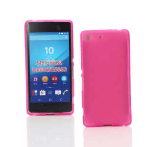 Pink Frost TPU Gel Cover Case for Sony Xperia M5