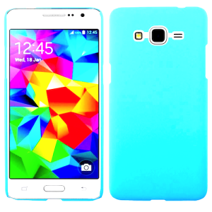 Turquoise Protective Matte Gel Skin Cover Case for the Samsung Galaxy J7