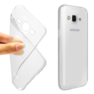 Ultra Thin TPU Shockproof Case for Samsung J5 - Transparent Clear
