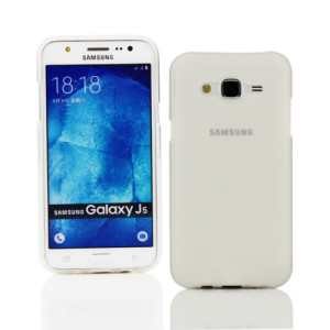 White Frost TPU Gel Cover Case for Samsung J5