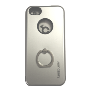 iPhone 4 : 4s Caseology 360 Degree Ring Rotating Stand Protective Phone Case – Silver