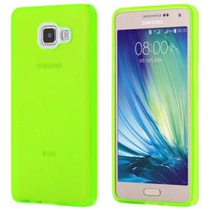 Lumo Green Protective  Matte Gel Skin Cover Case for the Samsung Galaxy A7 (2016 Version)