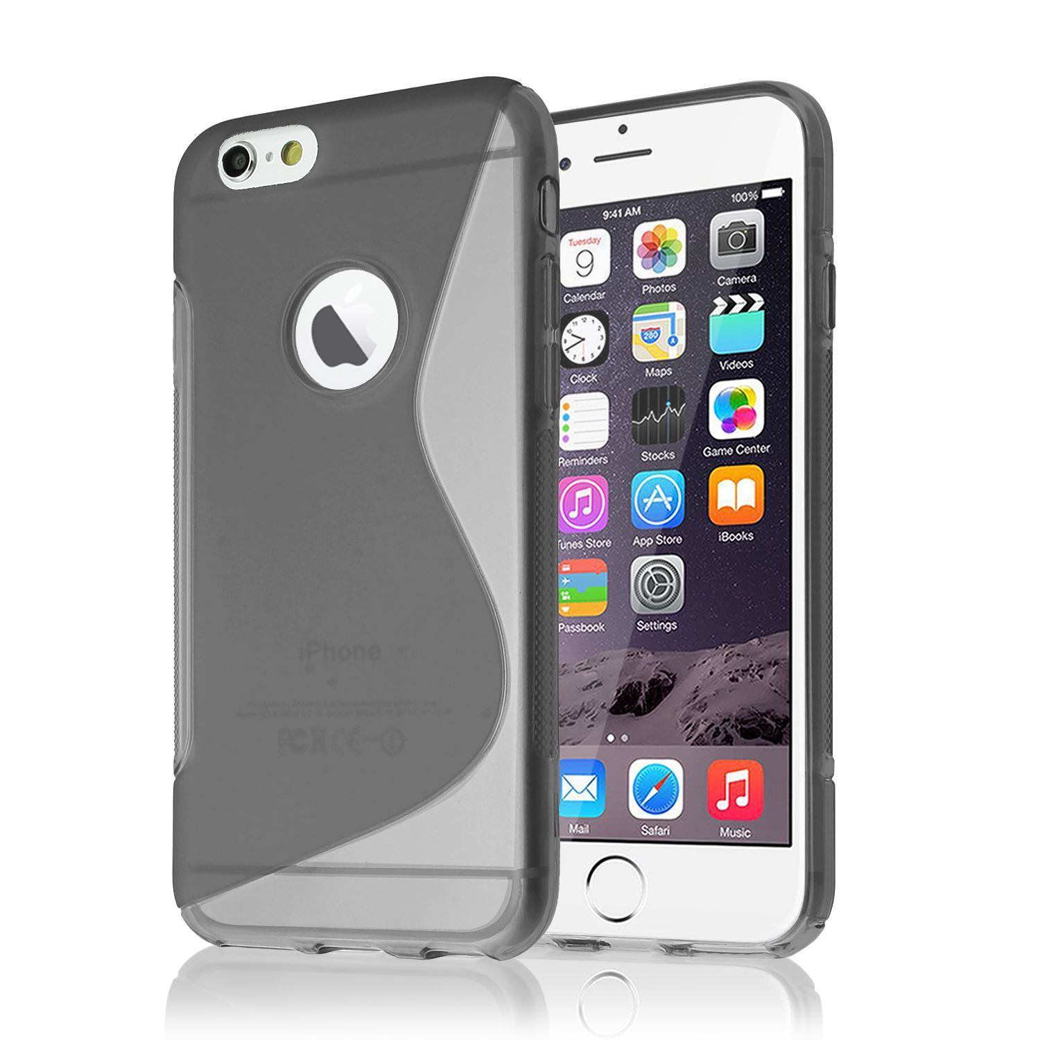 """buy online 11f3a 8a11f Grey S-Line Protective Silicon TPU Gel Cover Case For Apple iPhone 7 / 8  (4.7"""")"""